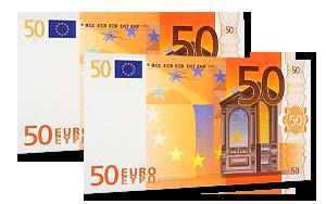 100€ Verrechnungsscheck