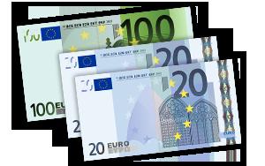 140€ Verrechnungsscheck
