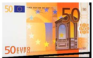 50€ Verrechnungsscheck