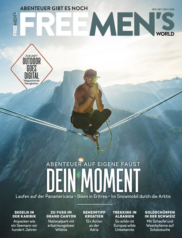 <b>FREE MEN'S WORLD (Print-Abo)</b>, 4x Ausgaben jährlich für nur 6,20 € / Ausgabe