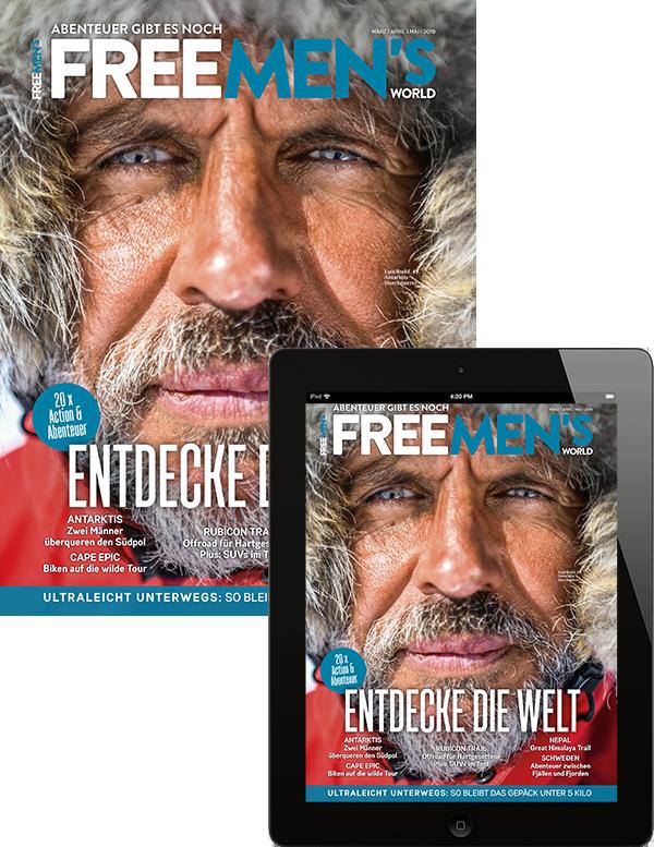 <b>FREE MEN'S WORLD Kombi (Print+Digital)</b>, 4x jährlich für 6,20€ zzgl. 0,40€ pro Digit