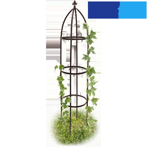Diese dekorative Rankhilfe mit Verzierung an der Spitze wird ca. 30 cm tief in den Boden eingegraben und bietet so auch den schwersten Pflanzen sicheren Halt.<br><br>- Material: witterungsbeständiges Metall<br>- Maße: 35 x 190 cm