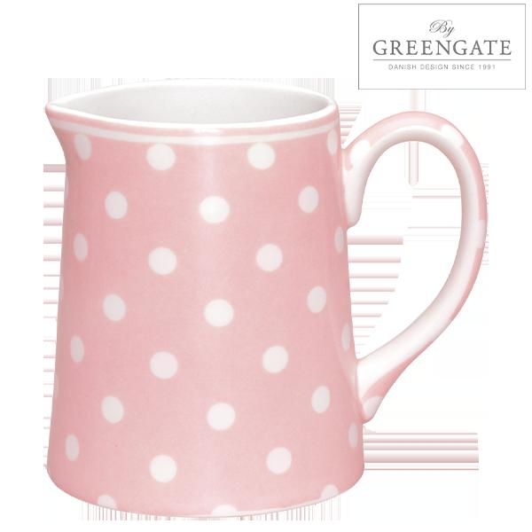 Der hübsche Porzellan-Krug von GreenGate eignet sich sowohl als Kanne auf dem Tisch als auch als Blumenkrug auf der Anrichte.