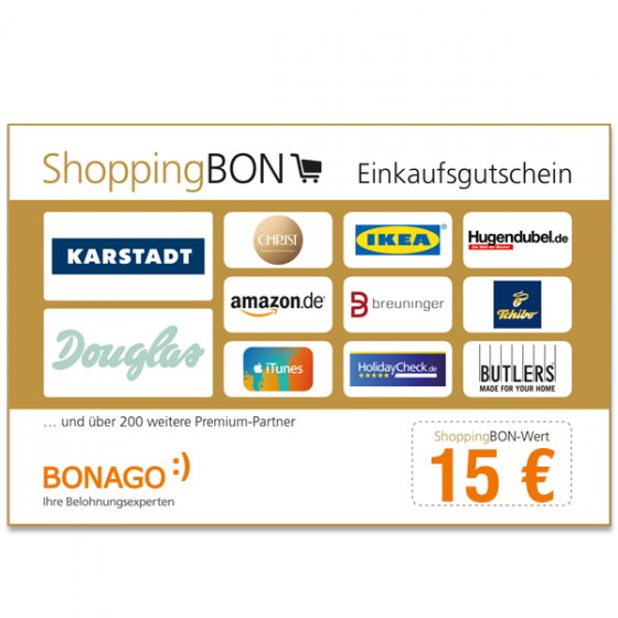 ShoppingBON 15 EUR