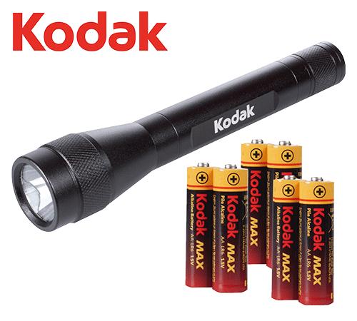 Sehr stromsparende und helle Taschenlampe mit robustem Metallgehäuse. Die sehr effiziente 1 Watt LED bringt Licht ins Dunkel – überall da, wo man es benötigt – unterwegs in der Natur, im Auto oder Zuhause. Durch das kompakte Design ist sie auch ideal für Freizeit und Hobby. 6x AA Batterie Kodak Max und eine Halteschlaufe sind inklusive.