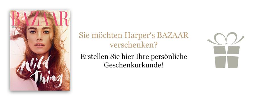 Harper's  BAZAAR Geschenkurkunde