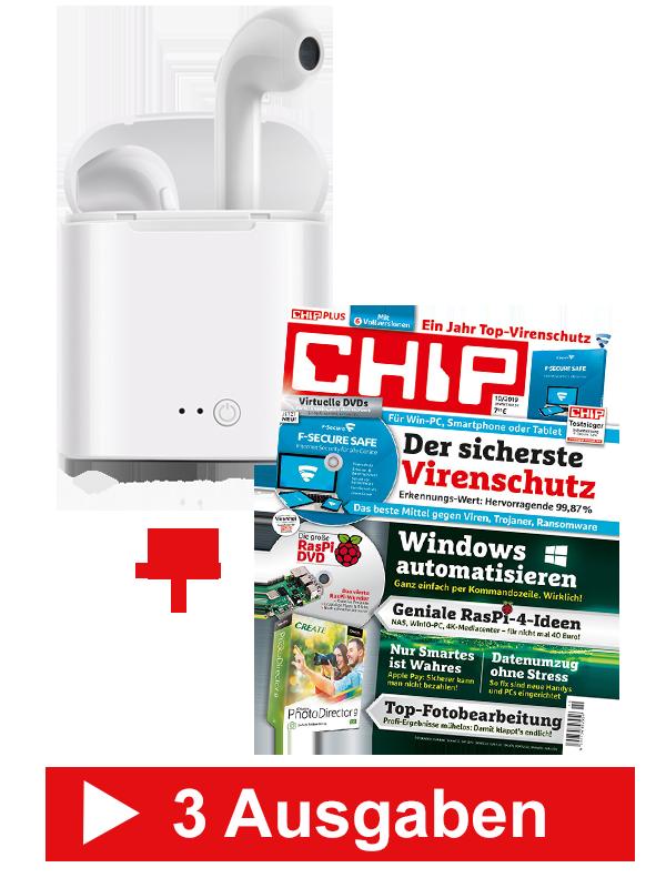 CHIP Plus für nur 23,25 €, zzgl. 1 € (Prämie)